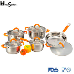 Hot sales triply stainless steel cookware set stainless steel pot and pan set