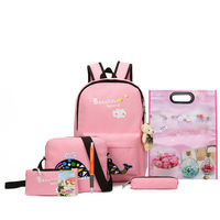 School bags backpack sets canvas softback student bag sets