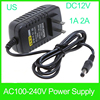12V 1A 2A 24W Switching Mode Power Supply Adapter AC 100-240V input 12 volt hdmi led adpter for 3528 5050 5630 LED light strip