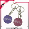 2015 new model brands of custom souvenir golden coin key chain