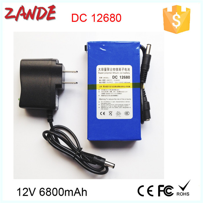 Factory Supply Dc-12680 6800mah Li-ion Rechargeable 12v Battery ...