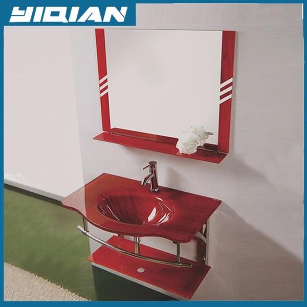 Red Bathroom Vanity Single Hole S One