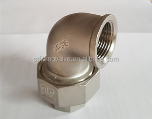 150lbs ss 304 316 bsp npt female union 90 degree elbow pipe casting fitting