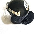 Black police anti riot helmet with neck protection