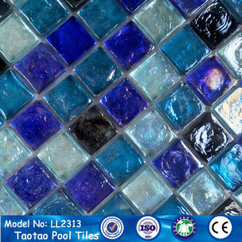 stocks iridescent square glass pools mosaic for swimming pool tile, View  square glass iridescent mosaic, taotao Product Details from Foshan Tileeasy  ...
