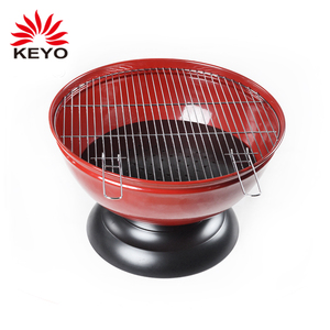 red ball shape small mini portable outdoor bbq fire pit