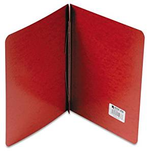 ACCO 25078 Presstex Report Cover, Reinforced Hinges, 11 x 8-1/2, 8-1/2 C to C, Red, Carton of 100