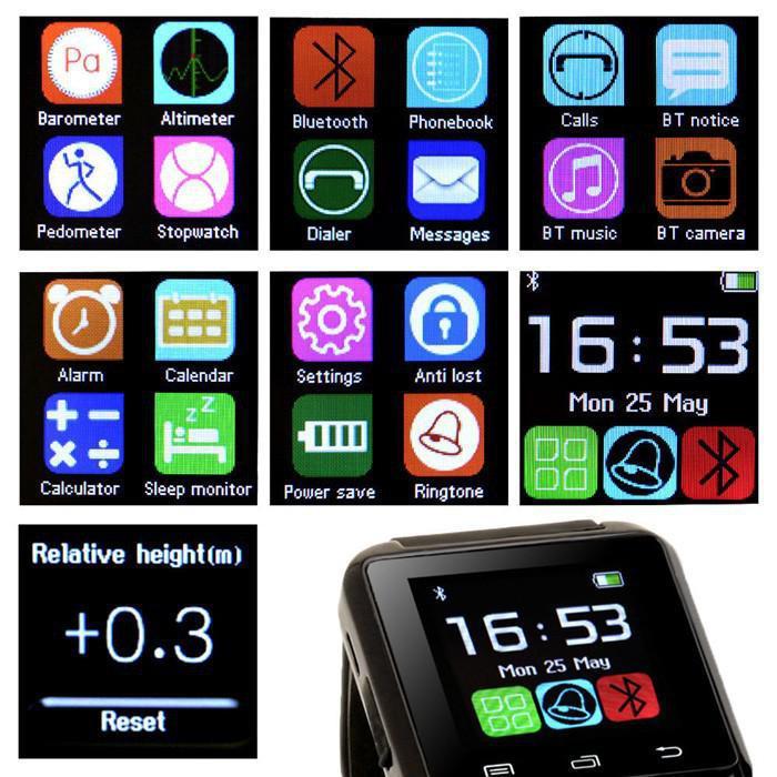 49bf061cf6a Preto quente por atacado relógio Inteligente U8 Bluetooth Relógio de Pulso  Do Telefone Para Samsung