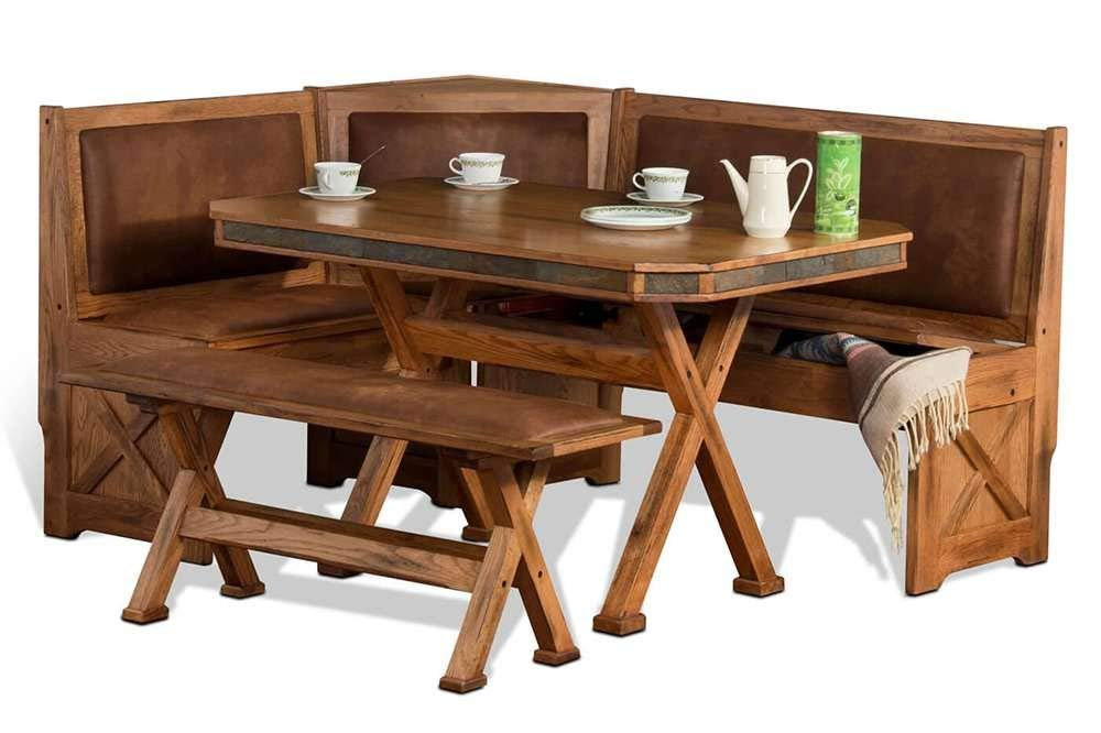 81a954220e Get Quotations · Rustic Dining Table - Alverstone Corner Nook Dining Set