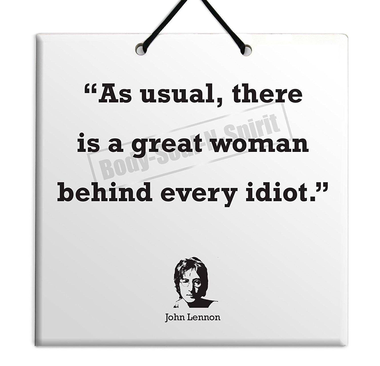 Buy John Lennon Quote Ceramic Wall Hanging Art Sign 15x15 Cm You