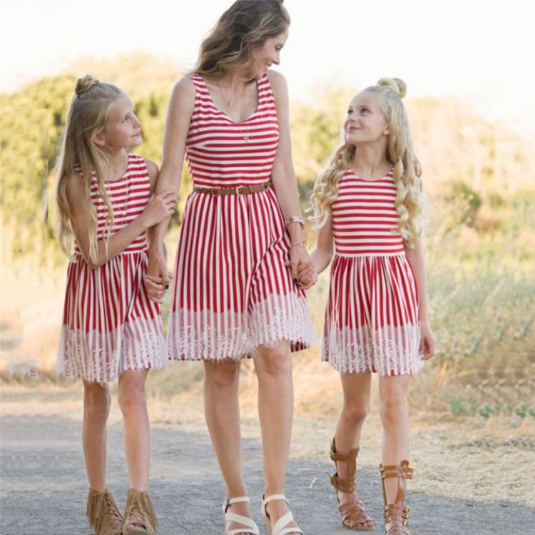 Wholesale Custom Cheap Promotional Parent-child Family Matching Clothing Dresses