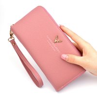 2019 Hot sale Fashion Snake pattern pvc Leather Women Clutch long Wallet
