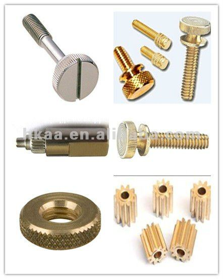 precision CNC parts steel double threaded bolts