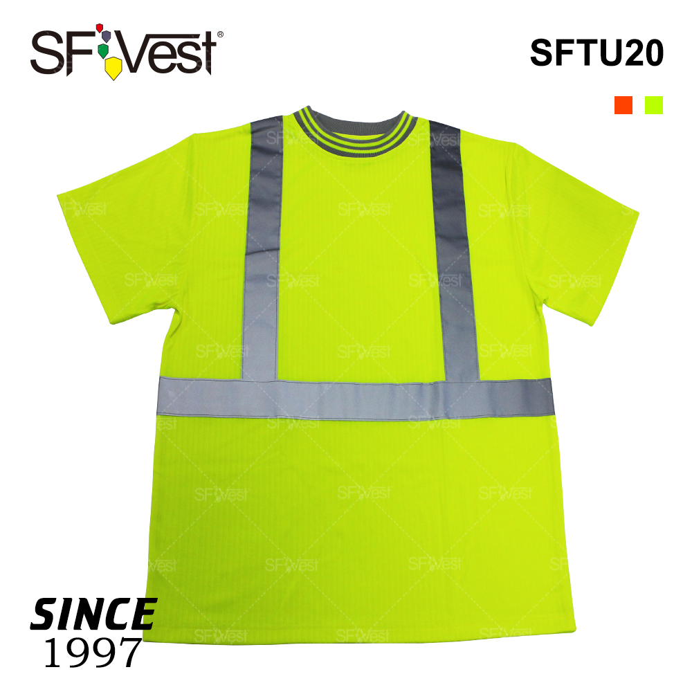 promotion high visibility reflective safety working t shirt short sleeve reflector polyester hi vis work roadway safety shirts