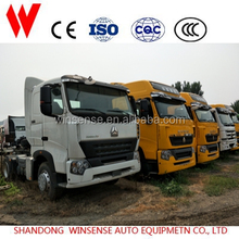 6x4 motor tractor truck with 4 point support fully floating suspension