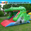 Kids Game Green Inflatable Dragon, Inflatable Water Slide for Kids