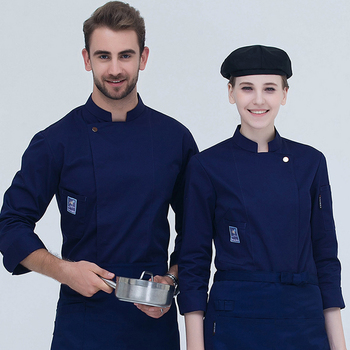 Latest cook wear single breasted chef uniform