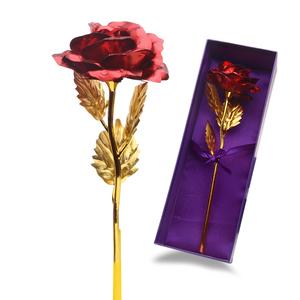 2019 New Arrival Promotion 24K Gold Foil Rose Flowers Gift for Women Of Valentine Day Gift, Birthday Present For Girl