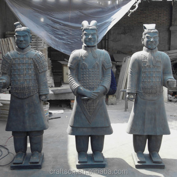 Waterproof Terracotta Warriors Garden Statue From Xiu0027an