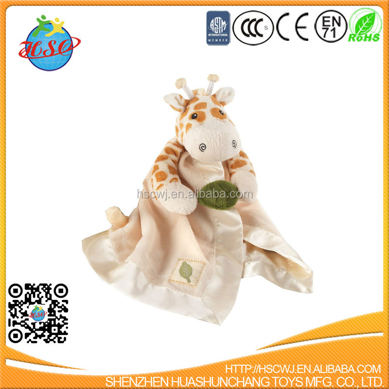 Custom PP Cotton Stuffing Giraffe Baby Comforter