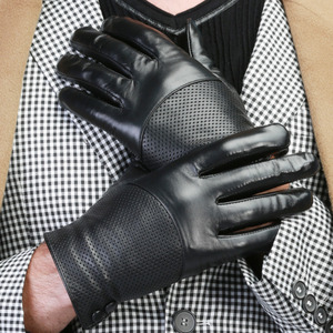 Wholesale touch screen driving deer leather motocross gloves mens