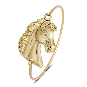 Best selling products animal horse head children gold bangles
