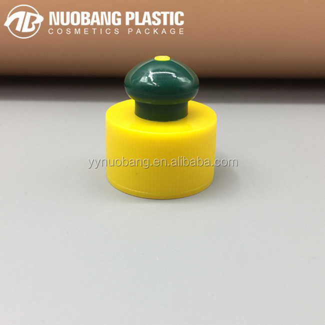 plastic push pull cap water bottle cap flip top cap 28mm china