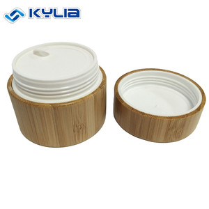 Baby safe 10g custom logo cosmetic wooden lid jar for face cream packaging