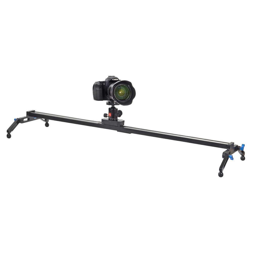 KINGJOY 100cm Aluminum DSLR Camera Slider easy operate with Basic Tools load Capacity of 11lbs for Video Moving Shooting VM-100