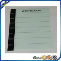 wipe off glass black glass weekly planner writing board for kids