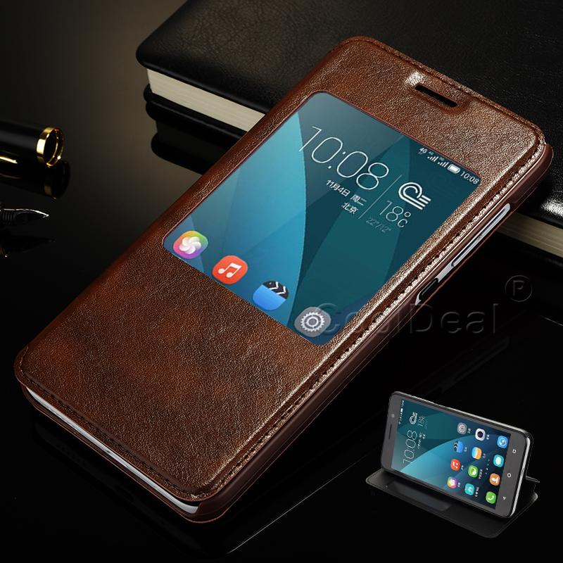 release date: 9c964 aeeea 4 Color,PU Leather Flip Stand Cover Cases For Mobile Phone Huawei Honor 4X  Case & Touch Screen Window