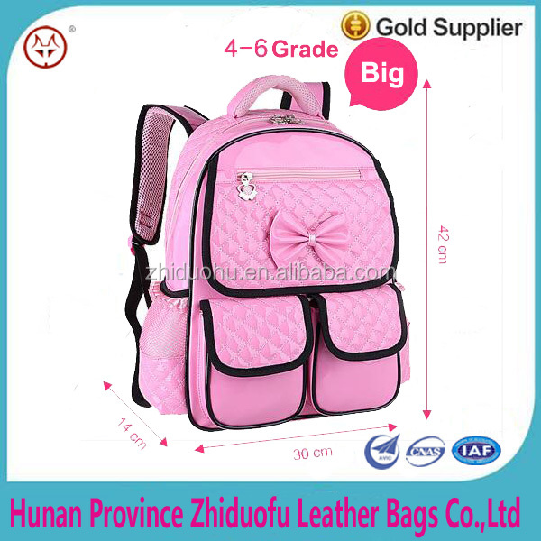 PU waterproof children fancy school bag Spinal alleviate burdens Shoulders schools bags for 6-12 old age girls children