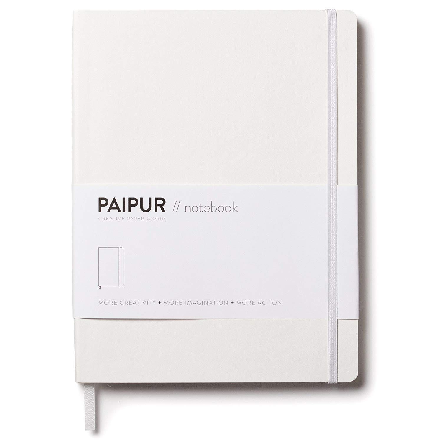 """PAIPUR Notebook ~ Dotted Grid and Ruled HYBRID format ~ Mono Series NARROW 0.24"""" Spacing ~ LARGE 9.75"""" x 7.5"""" Size Journal ~ Classic Style Softcover ~ Luxe 100GSM Paper for All Pens with No Bleed"""