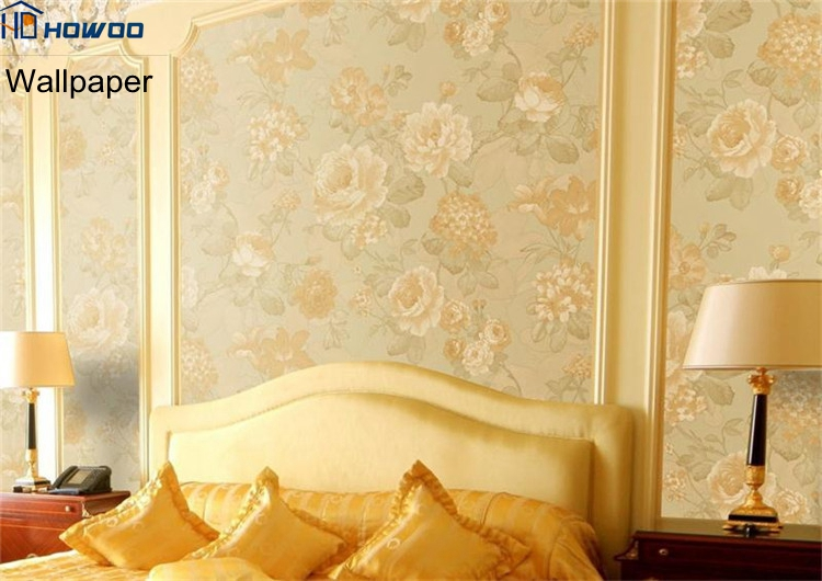 Moeden victorian embossed wall covering pvc wallpaper for hotel decor