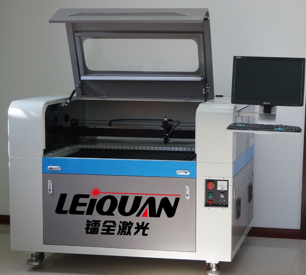 With Computer Stand Acrylic/Wood/Leather/Paper CO2 Laser cutting engraving machine Manufacturer