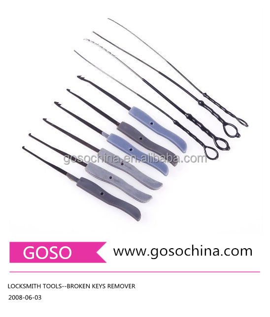 1-42 GOSO LOCKSMITH CIVIL USE TOOLS--BROKEN KEYS REMOVER LOCK SMITH TOOLS