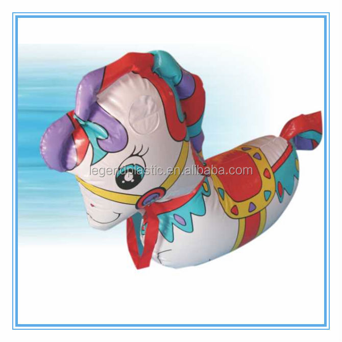 pvc inflatable animal rider toy, water funny pony tumbler&rider