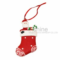IN51421 Christmas sock polymer clay decorations , christmas sales