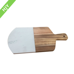Acacia wood and marble combination marble cutting blocks board