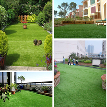 Ornamental 4 green colors indoor synthetic grass garden artificial turf