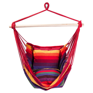 Hanging Rope Hammock Chair Swing Seat for Indoor or Outdoor Spaces