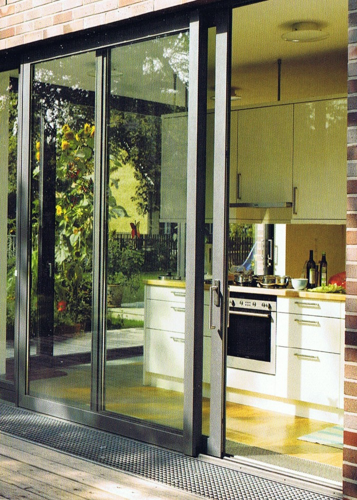 Exterior sliding glass doors at lowe 39 s for Exterior door with sliding window