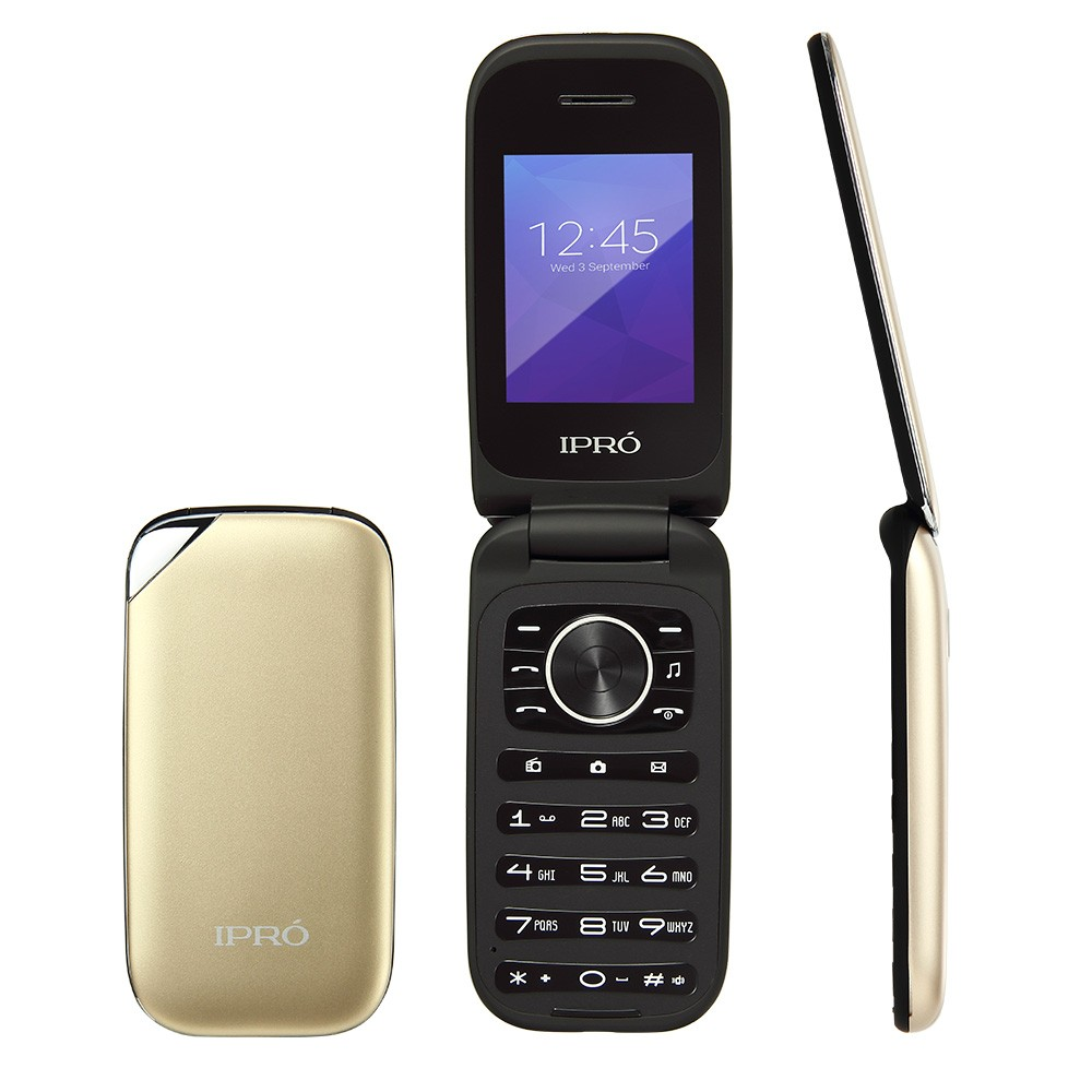 IPRO 2.4 inch very slim basic cheap feature GSM 800/850/1800/1900 dual sim feature mobile phone with big battery/bluetooth/FM