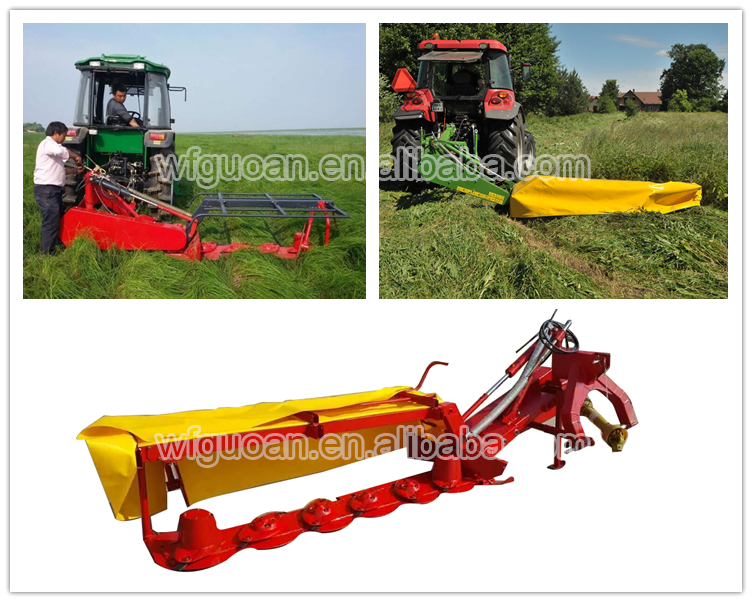 Ce Certificated Rotary Lawn Disc Mower With Mini Hay Baler