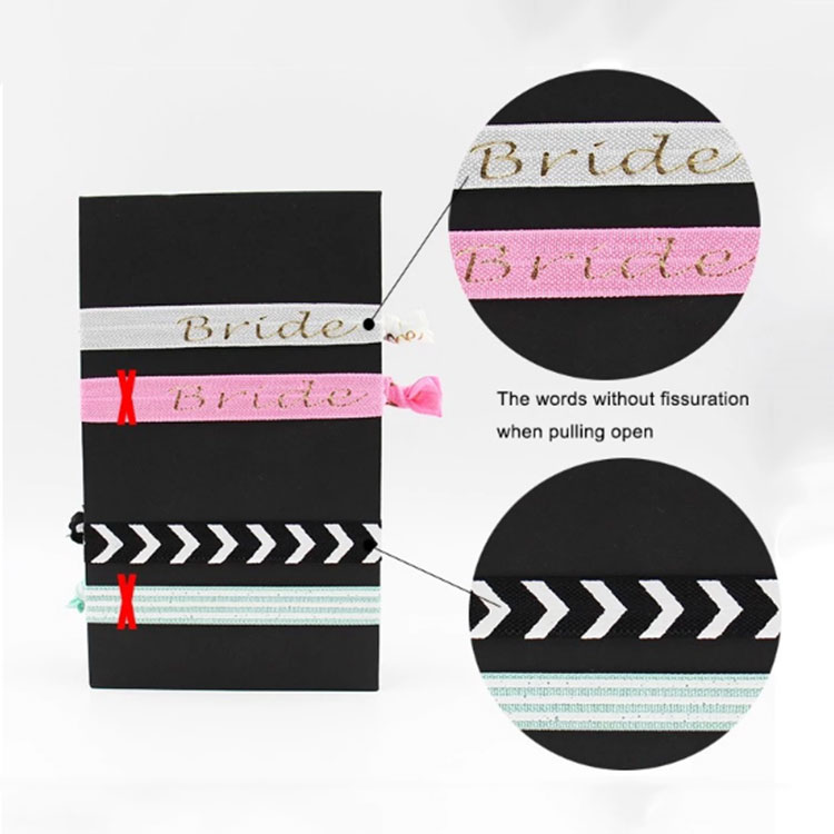 Factory cheap wholesale elastic ribbon spandex cute personalized customization printed hair tie