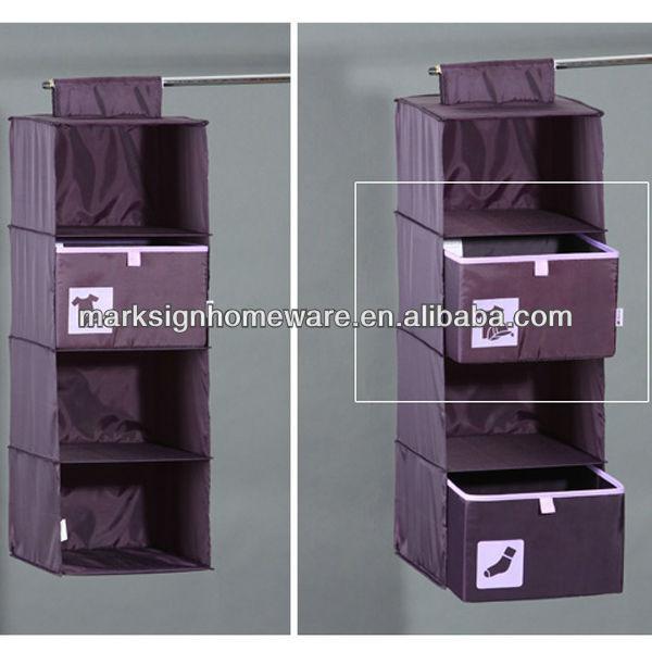 Colgando armario organizador con cajones de la ropa interior cajas y contenedores de - Organizador de ropa interior ...