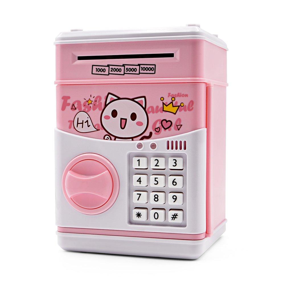 Get quotations · kids piggy bank voopii kids safe musical password money bank for kids electric saving bank