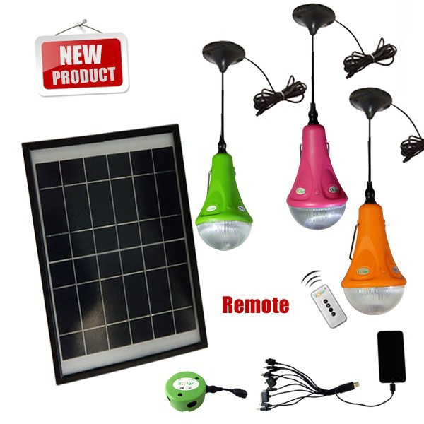 Portable Rechargeable Solar Led Lamp Home Light Indoor Emergency Bulb Product On
