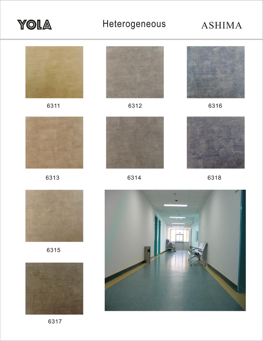 Comfortable Poly Vinyl Chloride Heterogeneous Flooring Roll Wholesale Buy