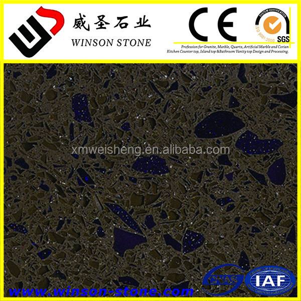 high quality best selling cheapest prices dark crystal brown noble colour composite quartz stone for tile slab countertop